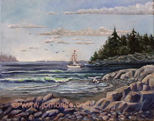 crescentbeach - oil